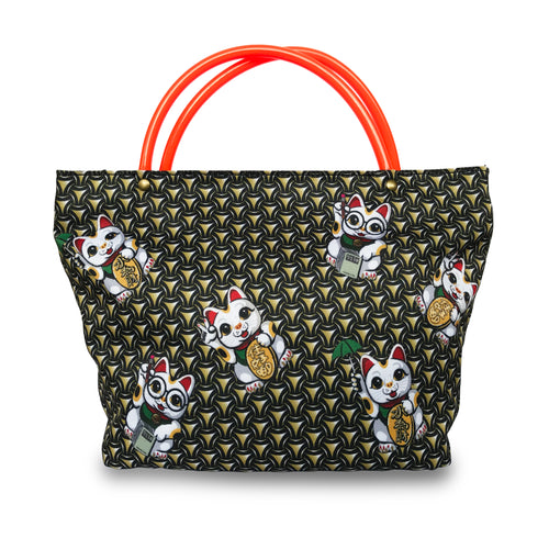 'Lucky Cat Armour' mini tote