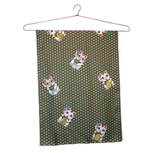 Load image into Gallery viewer, 'Lucky Cat Armour' Small Silk Scarf