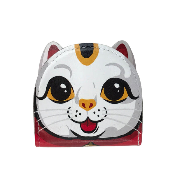 'Lucky cat' leather coin purse