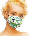 'Panda Bamboo' Pleated Mask with Holder