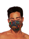 'Nathan Road' Pleated Mask with Holder