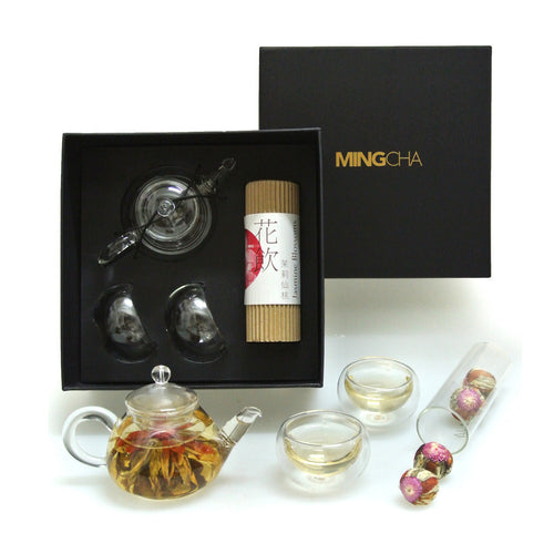 MingCha Jasmine Blossoms Tea Pot Set