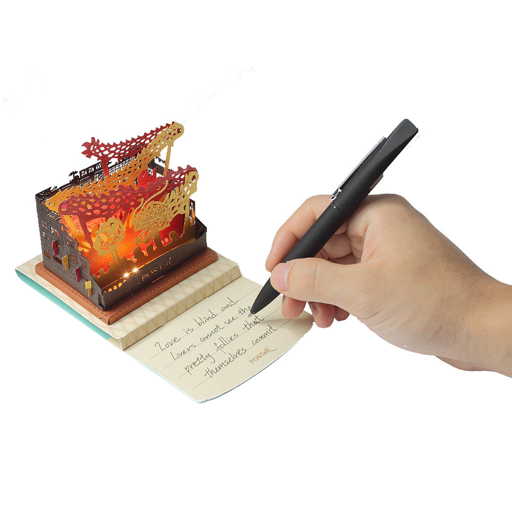 POSTALK LED Light POP card, Golden dragon dance