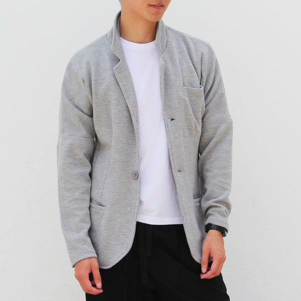 Convertible Chinese blazer, Grey (red inside)