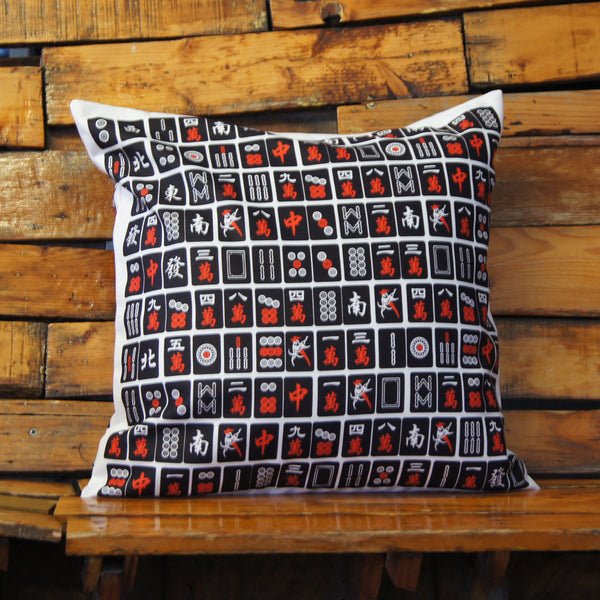 'Black Mahjong' Cushion Cover, 45 x 45 cm