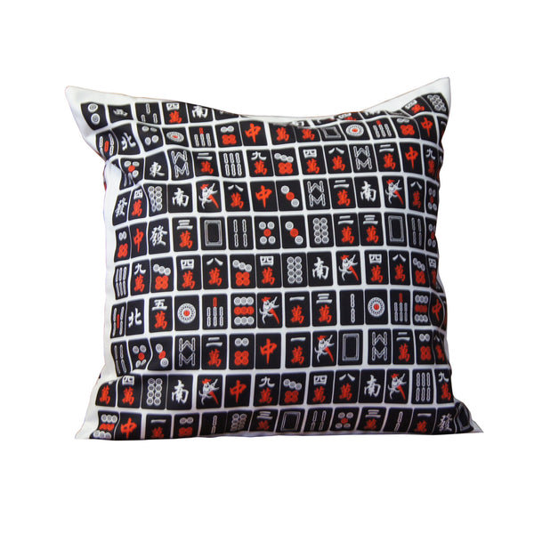 'Mahjong' cushion cover (black, 45x45cm)