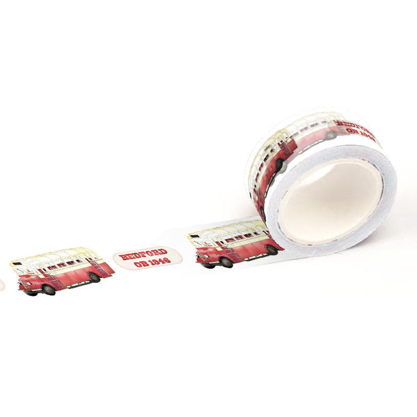 ZiGaauDaai decorative masking tape (single decker Bedford bus)