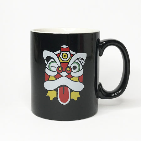 'Angry Cat' - Large, White