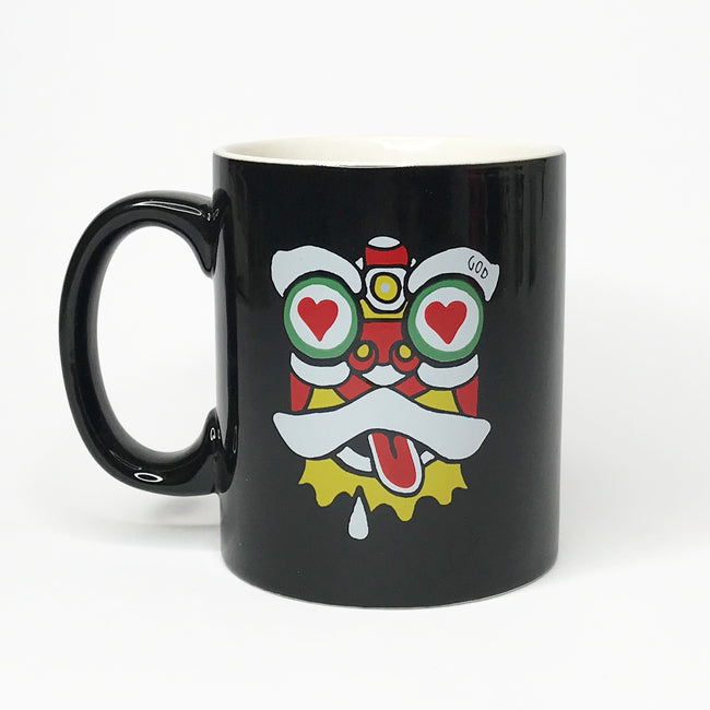 'Lion Dance - Love & Shocked' Large Mug