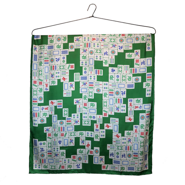 'Mahjong Puzzle' large silk scarf