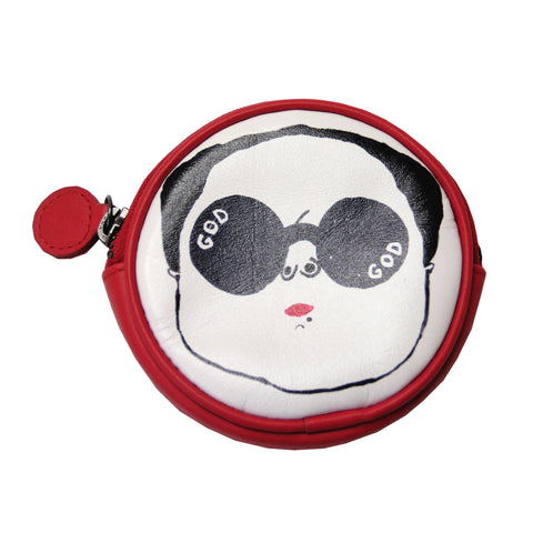 'Mao's' leather coin purse