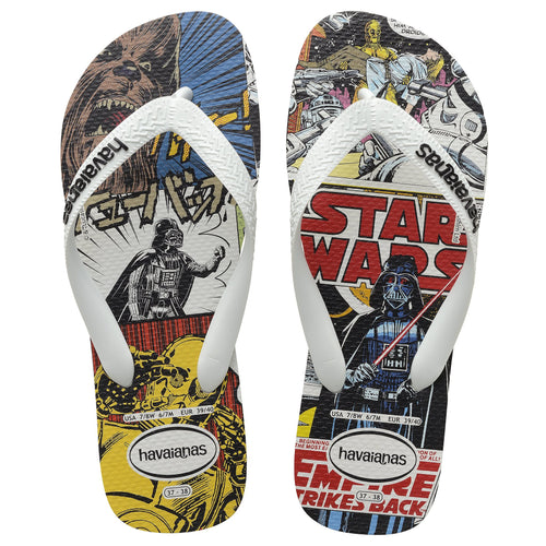 Havaianas Slim Star Wars, White/Black