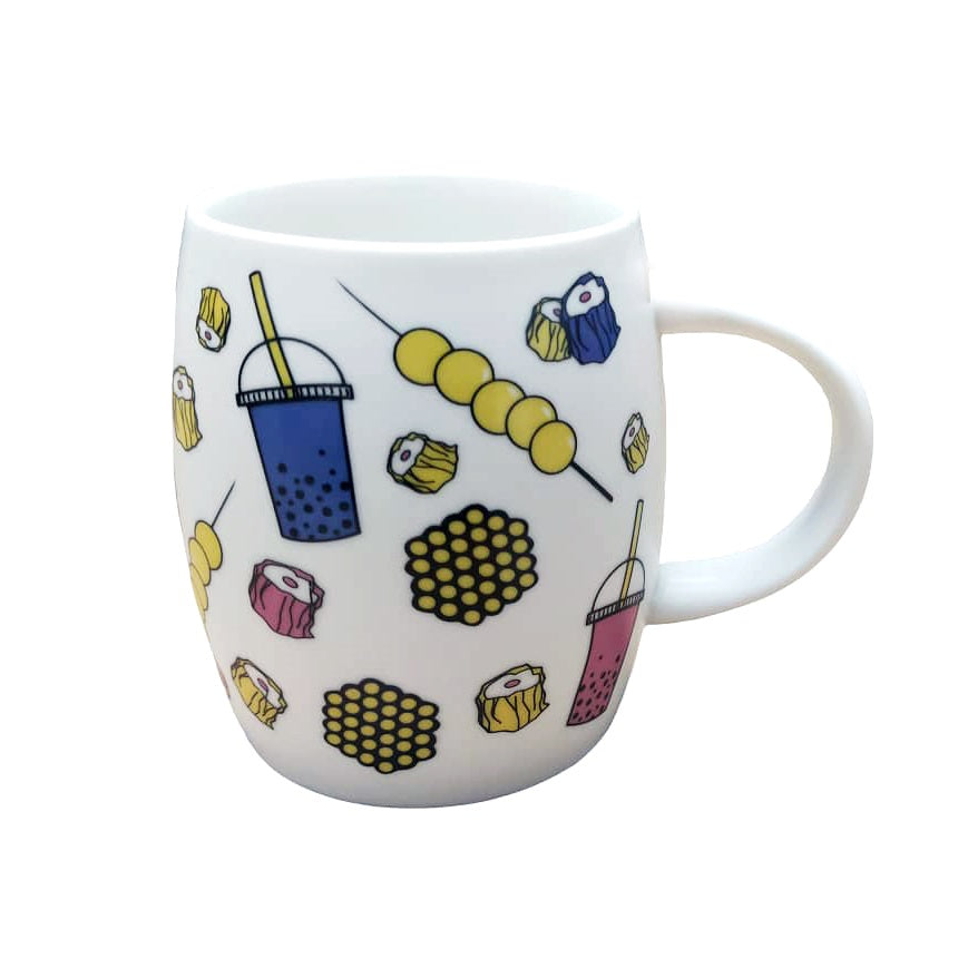 Liz Fry Design Ceramic Mug, Mong Kok Snacks