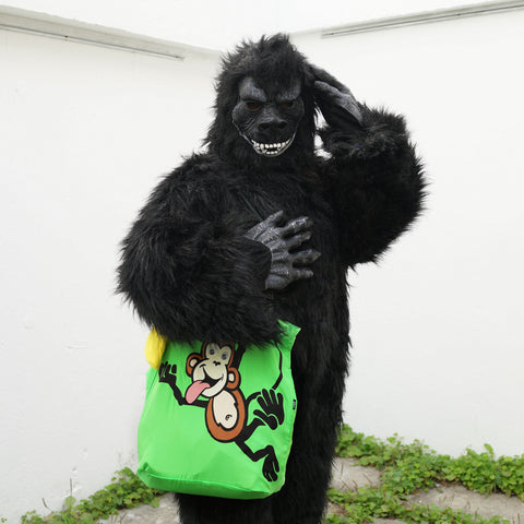 'Monkey' recycle shopping bag