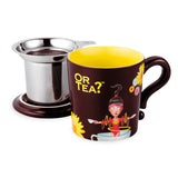 Or Tea MUG w/lid & tea strainer - Chocolate