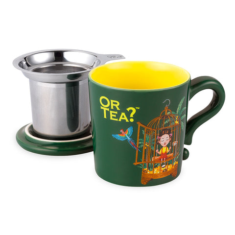 Or Tea MUG w/lid & tea strainer - Forest