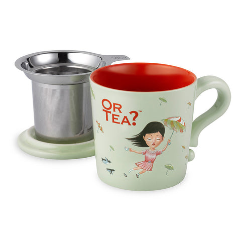 Or Tea MUG w/lid & tea strainer - Mint