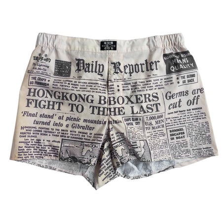 'Newspaper' boxer shorts