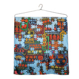 'Nathan Road Puzzle' large silk scarf