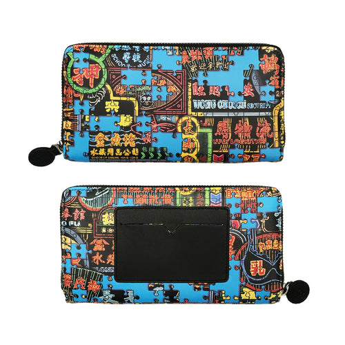 'Nathan Road Puzzle' leather wallet