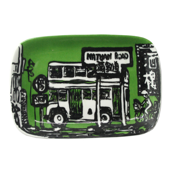 'Nathan Road' handpainted soap dish