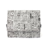 'Newspaper' Tyvek foldable wallet with mesh pocket