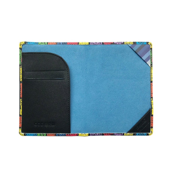 'Street Signs' leather passport holder