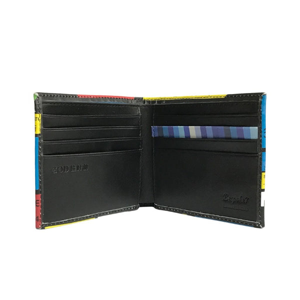 'Street Signs' leather billfold wallet