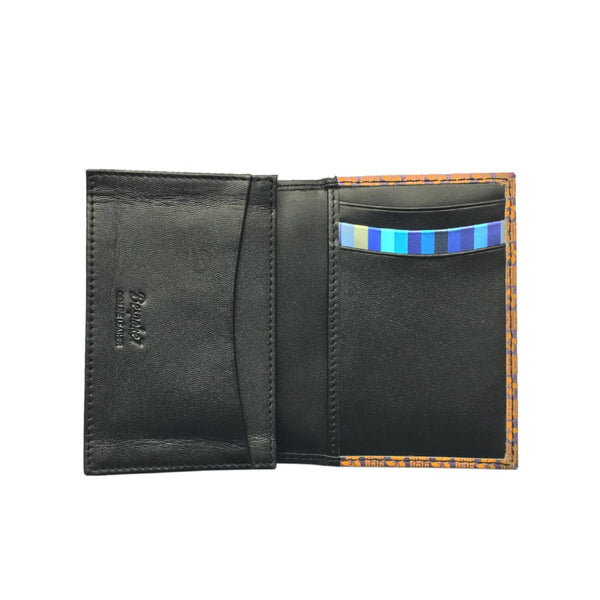 'Double Happiness & Bauhina' leather flap cardholder