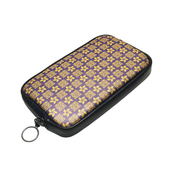 'Double Happiness & Bauhinia' leather essential case
