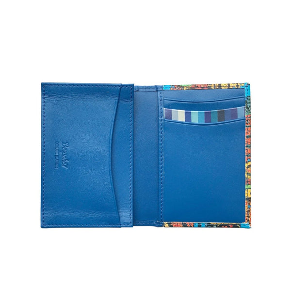 'Nathan Road Puzzle' Leather Flap Cardholder