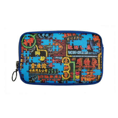 'Plumber Graffiti' leather cardholder