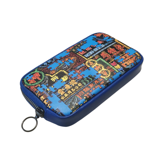 'Nathan Road Puzzle' leather essential case