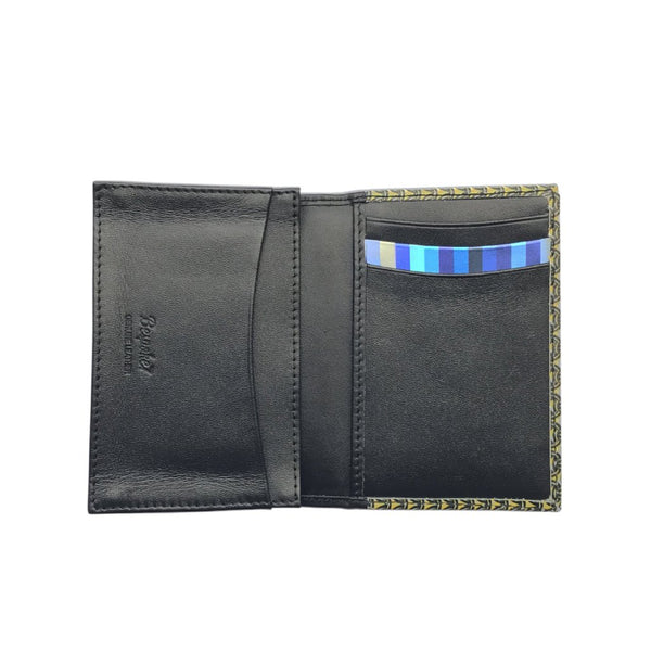 'Lucky Cat Armour' leather flap cardholder