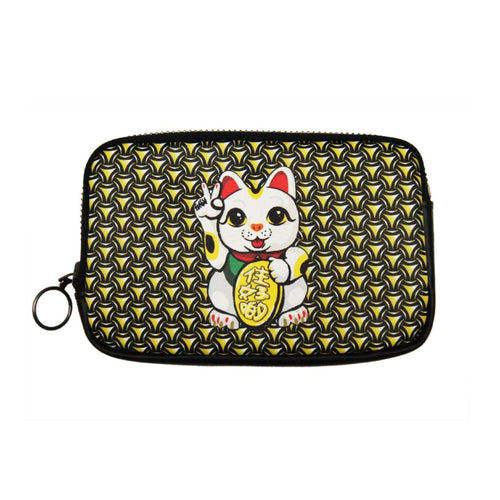 'Lucky Cat Armour' leather essential case