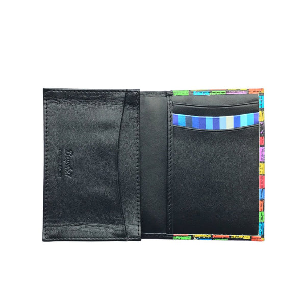 'Street Signs' leather flap cardholder