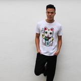 'Lucky Cat' tee, T-Shirt, Goods of Desire, Goods of Desire