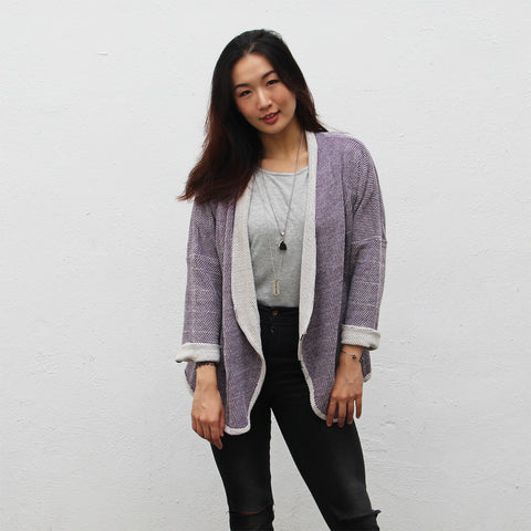 Wrap up jacket in purple heather