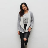 Wrap up jacket in grey heather