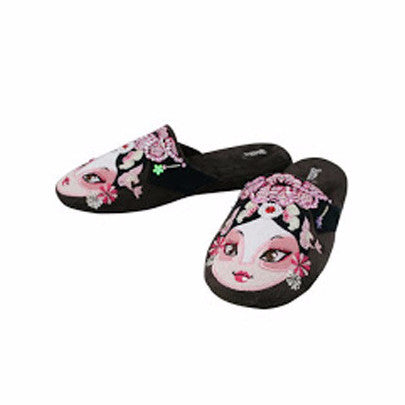 Betta 'Chinese Opera Woman' slippers (coffee brown)