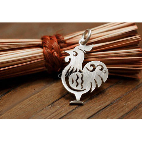 Chinese Zodiac Rooster Charm by Silversmith