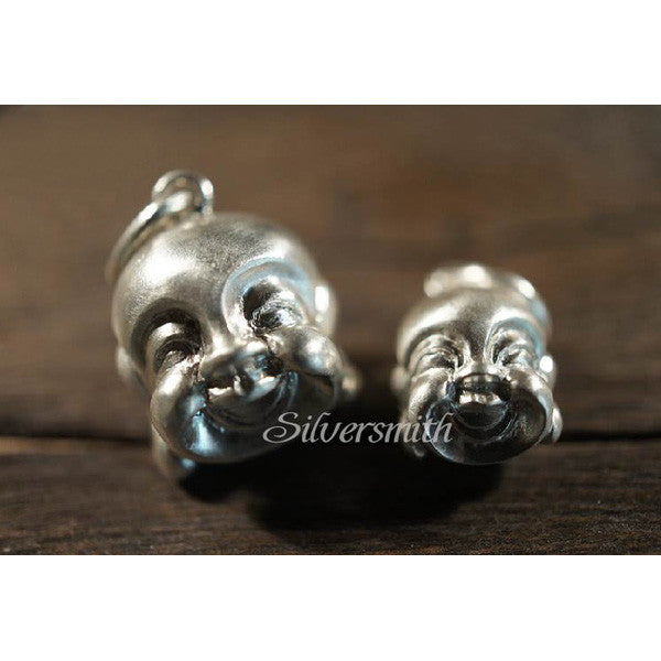 Laughing Buddha (S) Charm by Silversmith
