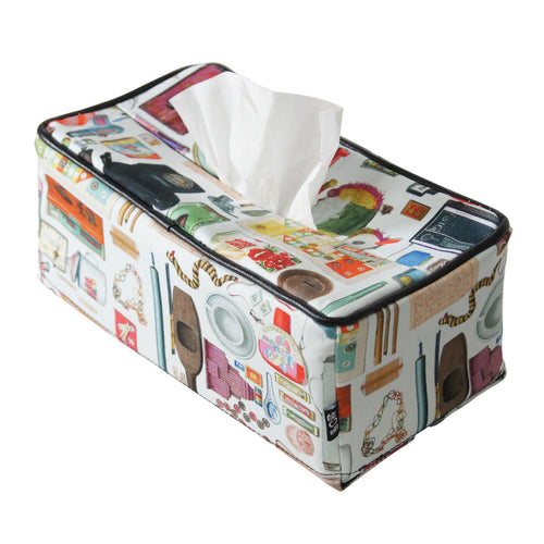 'Paraphernalia' tissue box cover