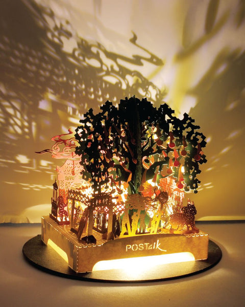 POSTalk LED-light traveler series, Lam Tsuen Wishing Trees
