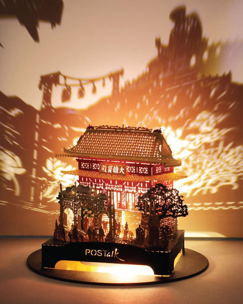 POSTalk LED-light traveler series, Po Lin Monastery