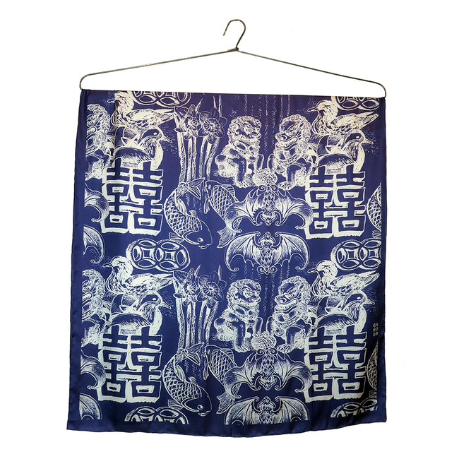 'Pairs of Joy' Silk Scarf, Large