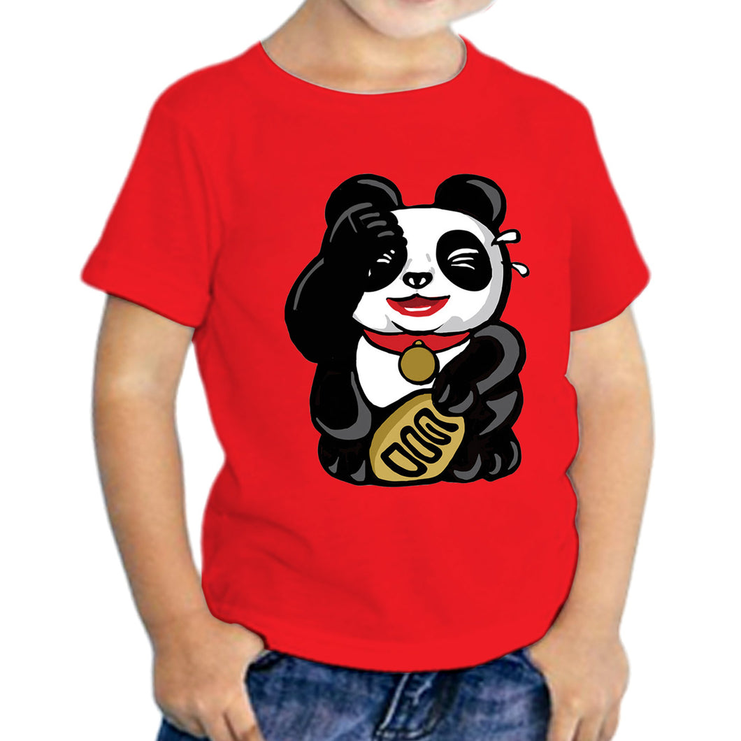 Panda LOL Kids T-shirt, Red