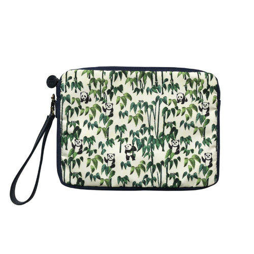 'Panda Bamboo' carryall travel pouch