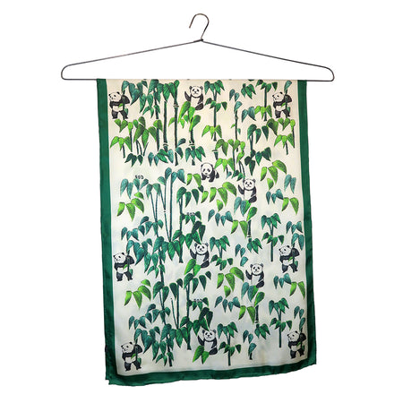 'Yaumati Jungle' silk chiffon scarf