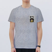 Load image into Gallery viewer, Speak No Evil Panda Pocket T-Shirt, Grey